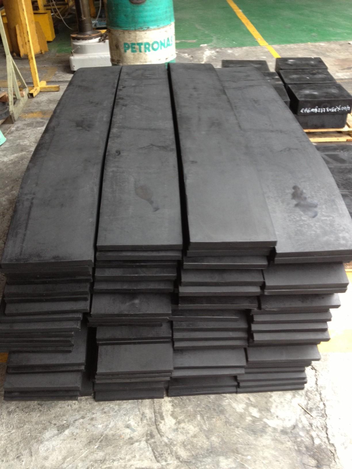 Elastomeric strip bearings